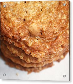 Oatmeal Cookies Acrylic Print by HD Connelly