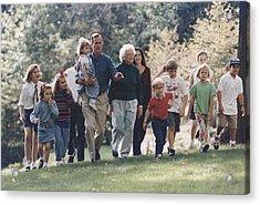 President George H. W. Bush And Wife Acrylic Print by Everett