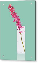 Red Orchid Bunch Acrylic Print by Atiketta Sangasaeng