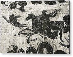 Roman Mosaic, Ostia Antica Acrylic Print by Sheila Terry