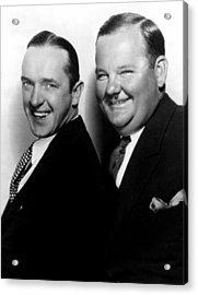 Stan Laurel, Oliver Hardy Laurel & Hardy Acrylic Print by Everett