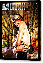 Street Phenomenon Aaliyah Acrylic Print by The DigArtisT