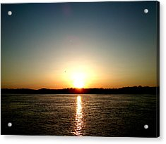 Sunset Acrylic Print by Lucy D