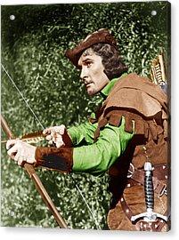 The Adventures Of Robin Hood, Errol Acrylic Print by Everett