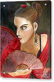 The Flamenco Dancer Acrylic Print by Pilar  Martinez-Byrne