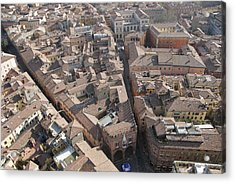 View Of Bologna From The Torre Degli Acrylic Print by Gina Martin