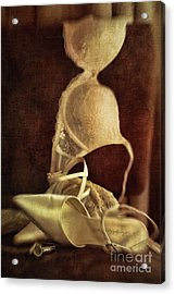 Wedding Shoes And Under Garments On Chair Acrylic Print by Sandra Cunningham