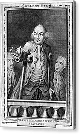 William Pitt (1708-1778) Acrylic Print by Granger