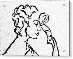 Woman Acrylic Print by Natalya A