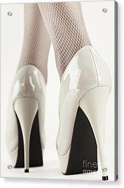 Woman Wearing High Heel Shoes Acrylic Print by Oleksiy Maksymenko