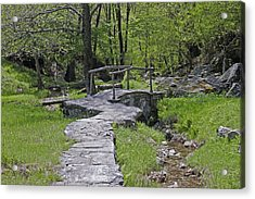 Wooden Bridge Acrylic Print by Joana Kruse