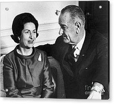 Lyndon Baines Johnson Acrylic Print by Granger
