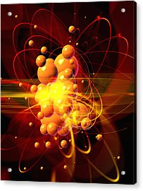 Subatomic Particles Abstract Acrylic Print by Mehau Kulyk