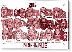 2012 Philadelphia Phillies Acrylic Print by Chris  DelVecchio