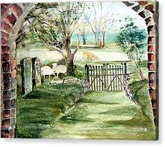 23rd Psalm Acrylic Print by Mindy Newman