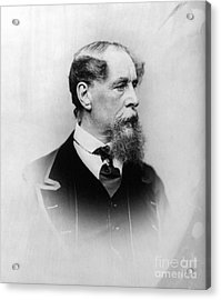 Charles Dickens (1812-1870) Acrylic Print by Granger