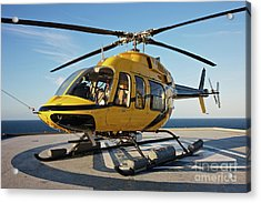 A Bell 407 Utility Helicopter Acrylic Print by Terry Moore