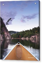 Canoeing In Ontario Provincial Park Acrylic Print by Oleksiy Maksymenko