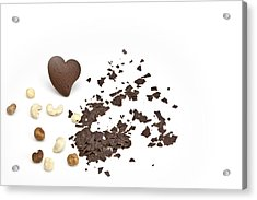 Chocolate Heart Acrylic Print by Joana Kruse
