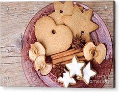 Christmas Gingerbread Acrylic Print by Nailia Schwarz