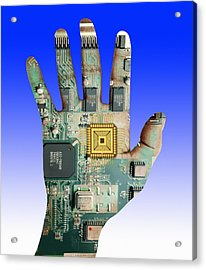 Cybernetics And Robotics Acrylic Print by Victor De Schwanberg