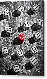 Dice Acrylic Print by Joana Kruse