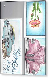 3 Different Cards Acrylic Print by Jay Van