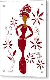 Fashion Illustration Acrylic Print by Frank Tschakert