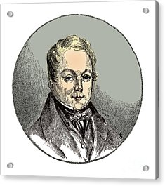 François Magendie, French Physiologist Acrylic Print by Science Source