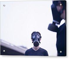 Gas Masks Acrylic Print by Cristina Pedrazzini