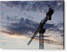 Industrial Crane Acrylic Print by Jeremy Woodhouse