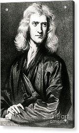 Isaac Newton, English Polymath Acrylic Print by Science Source
