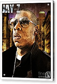 Jay Z Acrylic Print by The DigArtisT