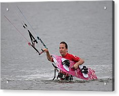 Kite Boarding Acrylic Print by Jeanne Andrews