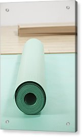 Laying A Floor. Rolls Of Underlay Or Acrylic Print by Magomed Magomedagaev