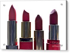 Lipsticks Acrylic Print by Bernard Jaubert