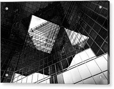 London Southbank Abstract Acrylic Print by David Pyatt