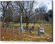 Pleasant Forest Cemetery Acrylic Print by Paul Mashburn