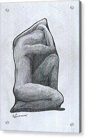 Sketch Acrylic Print by Safa Al-Rubaye