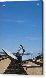 Solar Parabolic Mirror, California, Usa Acrylic Print by David Nunuk