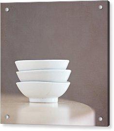3 Stacked Bowls Acrylic Print by Pamela N. Martin