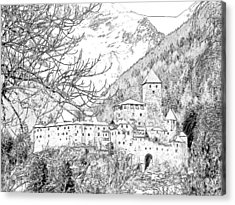Taufers Knights Castle Valle Aurina Italy Acrylic Print by Joseph Hendrix