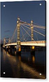 The Albert Bridge London Acrylic Print by David Pyatt