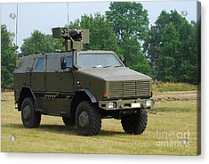 The Dingo 2 In Use By The Belgian Army Acrylic Print by Luc De Jaeger