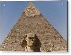 The Sphinx Stands In Front Of The Great Acrylic Print by Taylor S. Kennedy