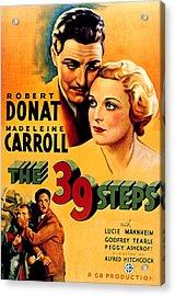39 Steps, The, Robert Donat, Madeleine Acrylic Print by Everett