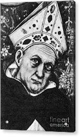 Albertus Magnus, Medieval Philosopher Acrylic Print by Science Source