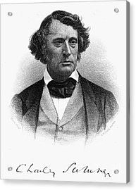 Charles Sumner (1811-1874) Acrylic Print by Granger