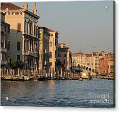 Grand Canal. Venice Acrylic Print by Bernard Jaubert