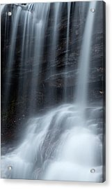 Misty Canyon Waterfall Acrylic Print by John Stephens